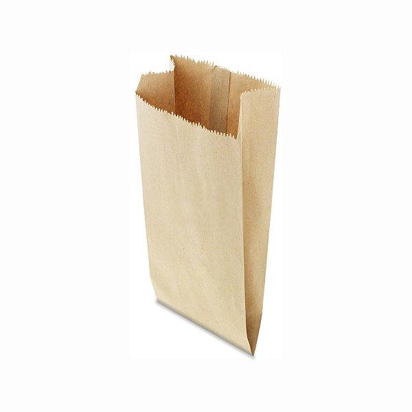 Saco de Papel Pardo 21x48cm 10 Kg com 500 Embalagens