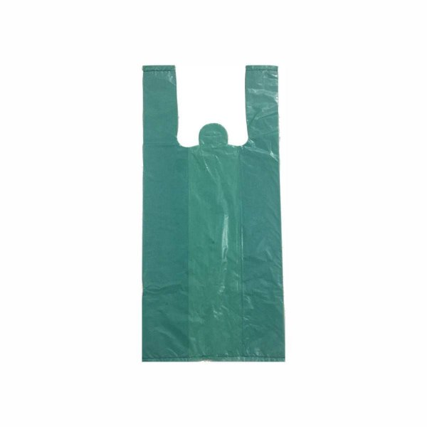 Sacola Plástica 50x60cm 0,007mm Reciclada Azul/Verde