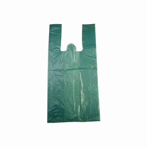 Sacola Plástica 30x45cm 0,007mm Reciclada Azul/Verde