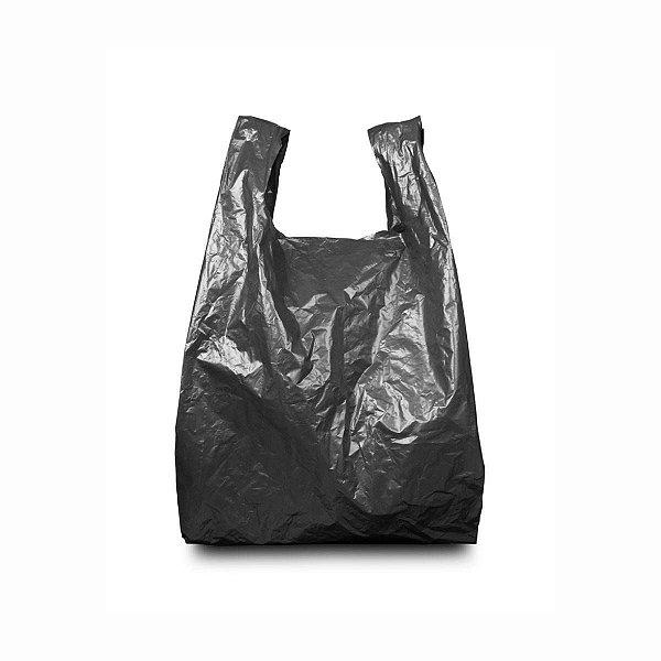 Sacola Plástica 40x50cm 0,007mm Reciclada Preta