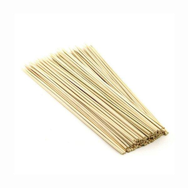Espeto de Bambu 25cm para Churrasco