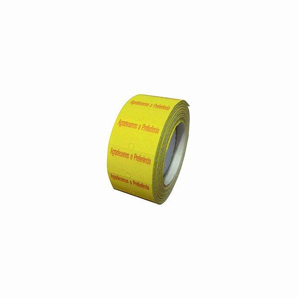 Rolo de Etiqueta Amarela de Preço para Etiquetadora MX5500