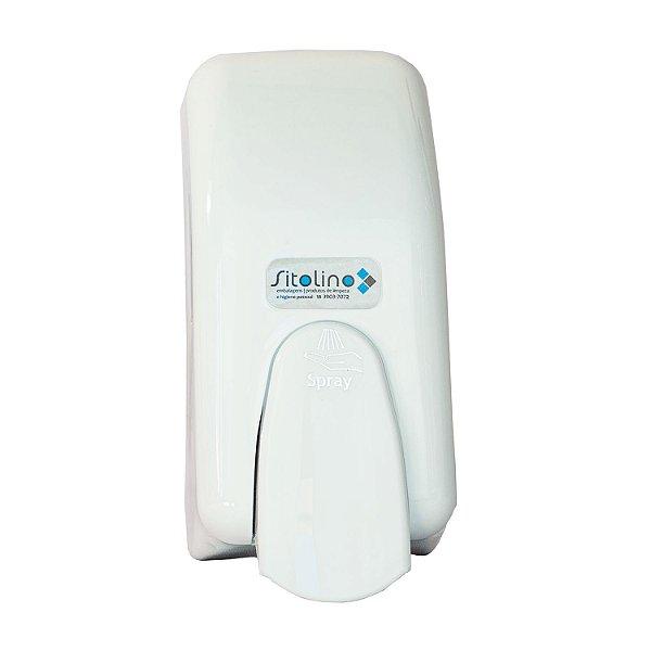 Mini Saboneteira de Parede para Sabonete Spray Refil sem Reservatório Branca Trilha