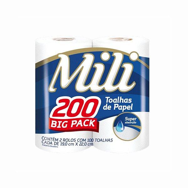 Papel Toalha para Cozinha Big Pack 2x100 Folhas Mili