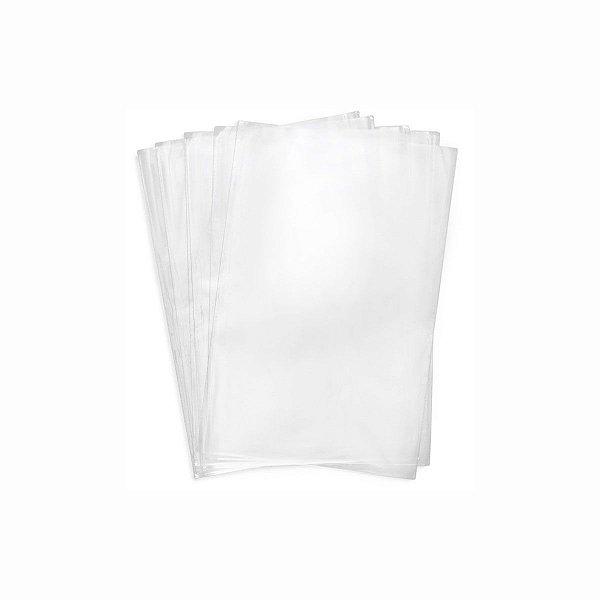 Saco Plástico PP 18x50cm 0,006mm com 1kg, Aproximadamente 185 Unidades