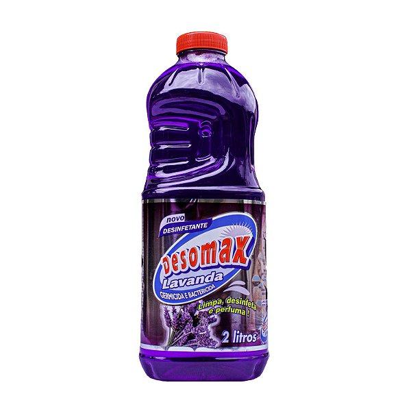 Desinfetante Lavanda 2L Limpa, Perfuma e Desinfeta Desomax