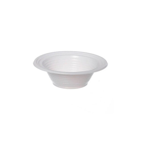 Prato Plástico Descartável Fundo 12cm Branco Copoplast
