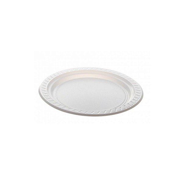 Prato Plástico Descartável 18cm Branco Copoplast