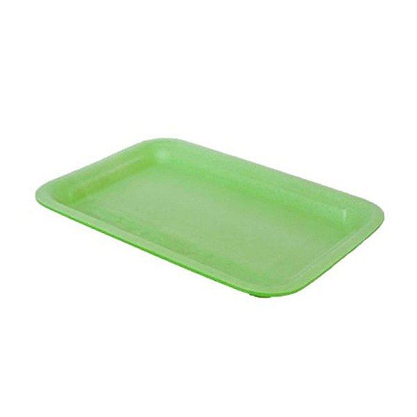 Bandeja de EPS Rasa Nº02 14,5x21x1,5cm Verde Fibraform
