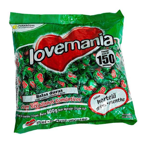 Pacote de Balas Hortelã 600g Love Mania