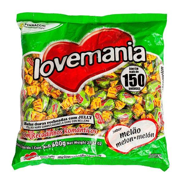 Pacote de Balas Melão 600g Love Mania