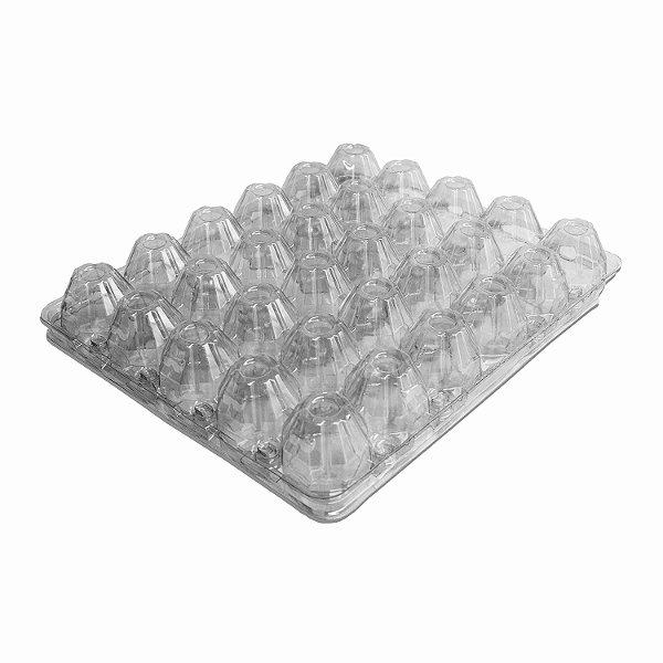 Embalagem com Tampa PET para Ovos com 20 Unidades