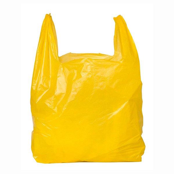 Sacola Plástica Reciclada 30x40cm Amarela com 2kg