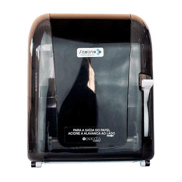 Dispenser com Alavanca para Papel Toalha Bobina Fumê Trilha