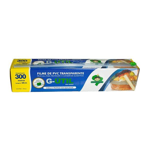 Plástico Filme de PVC  38cmx300m com Trilho Cortante para Alimentos