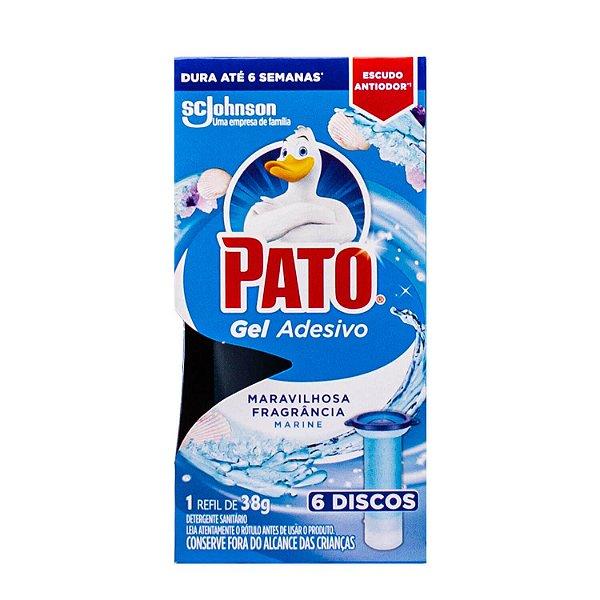 Refil Adesivo Gel para Vaso Sanitário Marine com 6 Discos Pato