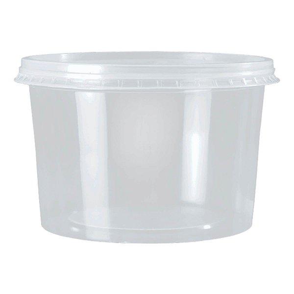 Kit Pote e Tampa PP Redondo 1000ml Rioplastic