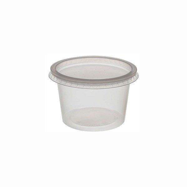 Kit Pote e Tampa PP Redondo 500ml Rioplastic