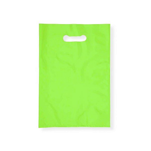 Sacola Plástica Boca de Palhaço 20x30cm 0,012mm Verde com 1 kg, 135 Sacolinhas