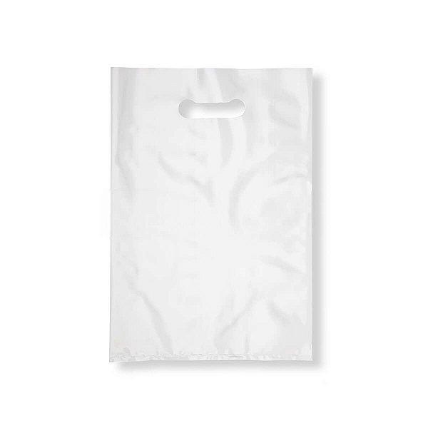 Sacola Plástica Boca de Palhaço 30x40cm 0,012mm Branca com 1 kg, 67 Sacolinhas
