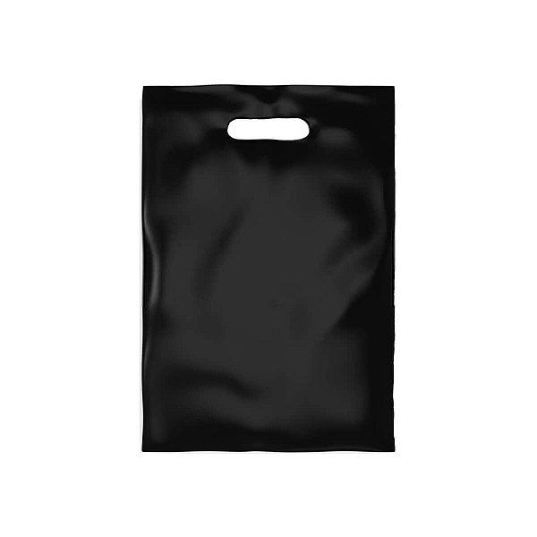 Sacola Plástica Boca de Palhaço 30x40cm 0,012mm Preta com 1 kg, 67 Sacolinhas