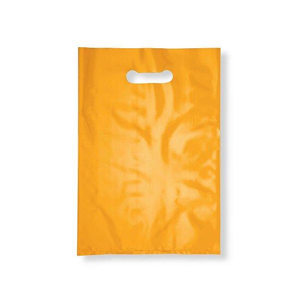 Sacola Plástica Boca de Palhaço 30x40cm 0,012mm Amarela com 1 kg, 67 Sacolinhas