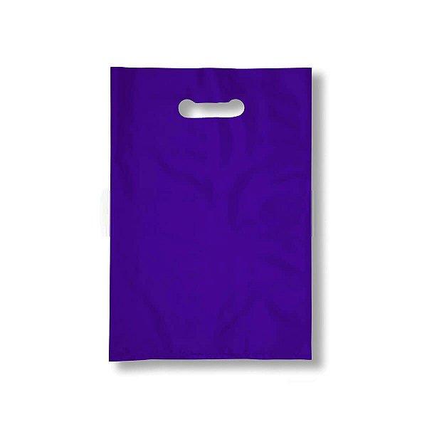 Sacola Plástica Boca de Palhaço 30x40cm 0,012mm Roxa com 1 kg, 67 Sacolinhas