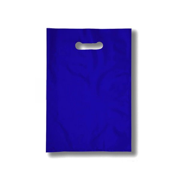 Sacola Plástica Boca de Palhaço 40x50cm 0,012mm Azul com 1 kg, 40 Sacolinhas