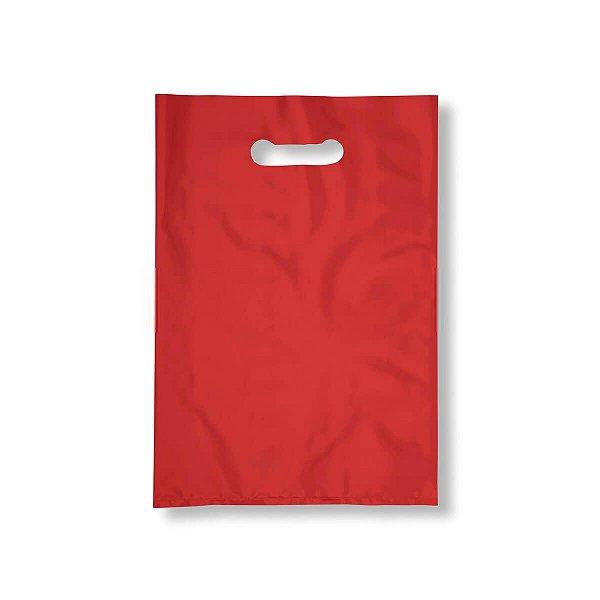 Sacola Plástica Boca de Palhaço 40x50cm 0,012mm Vermelha com 1 kg, 40 Sacolinhas