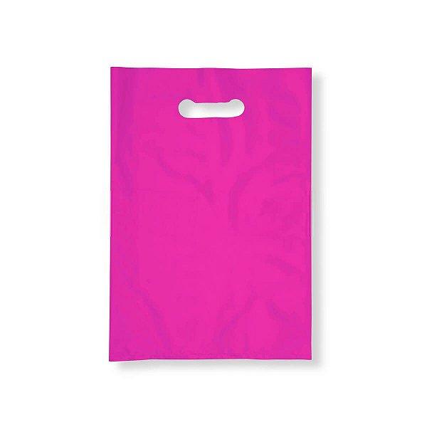 Sacola Plástica Boca de Palhaço 40x50cm 0,012mm Rosa com 1 kg, 40 Sacolinhas