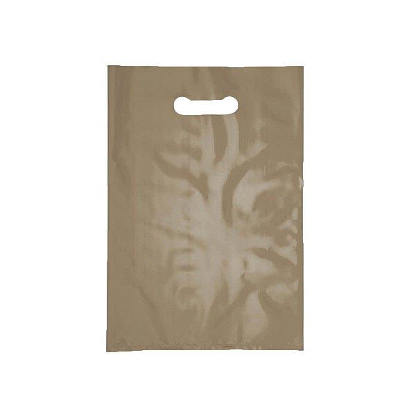 Sacola Plástica Boca de Palhaço 40x50cm 0,012mm Dourada com 1 kg, 40 Sacolinhas