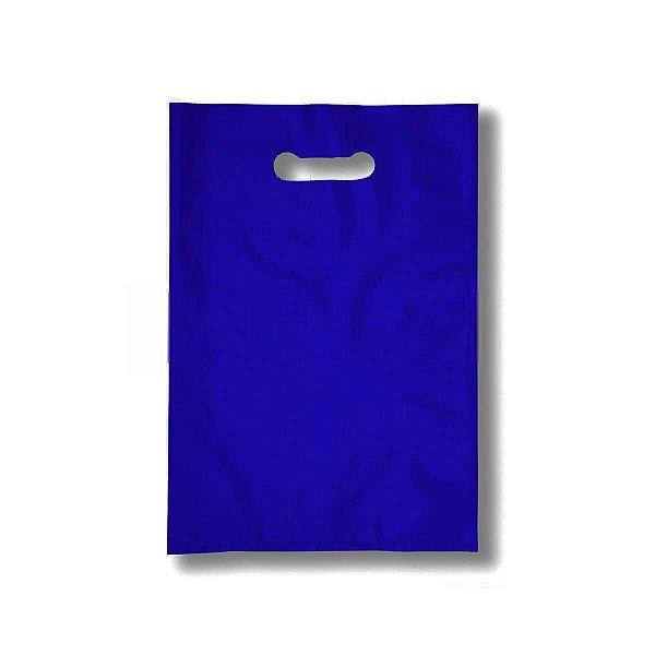 Sacola Plástica Boca de Palhaço 50x60cm 0,012mm Azul com 1 kg, 27 Sacolinhas