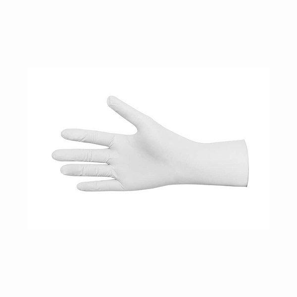 Luva de Látex Branca Pequena (P) com Pó com 50 Pares Descarpack