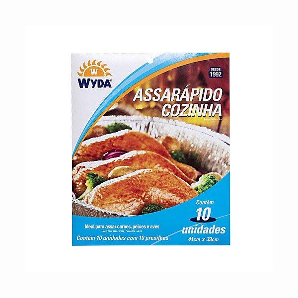 Assarápido Cozinha 41x33cm para Assar Carnes, Aves e Peixes Wyda