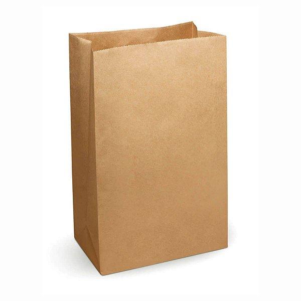 Saco de Papel Kraft SOS 18x30cm 05kg 80g/m² Liso para Delivery com 100 Embalagens