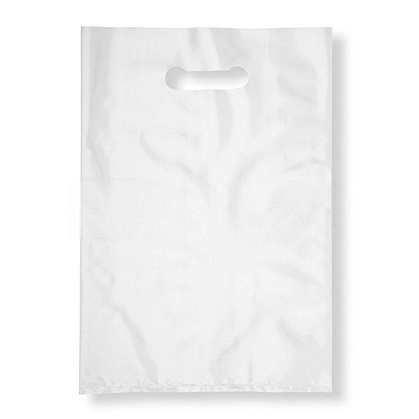 Sacola Plástica Boca de Palhaço 20x30cm 0,012mm Branca com 1 kg, 135 Sacolinhas