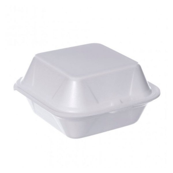 Embalagem de EPS para Hambúrguer Nº03 16x16x08cm CristalCopo