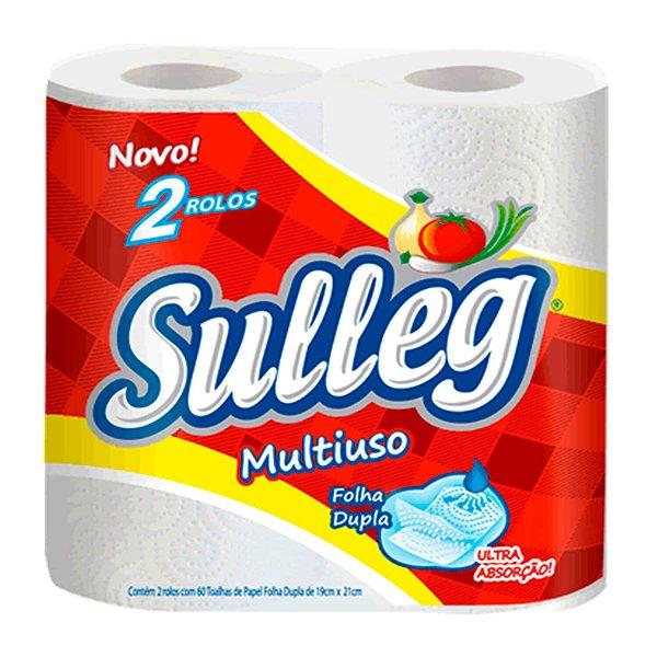 Papel Toalha Multiuso Folha Dupla com 120 Folhas Sulleg