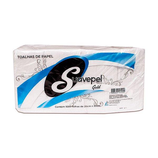 Papel Toalha Interfolhado 100% Celulose 20x20cm Suavepel