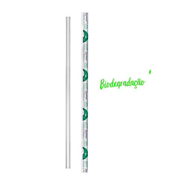 Canudo Descartável Biodegradável 240x05mm para Garrafas Strawplast