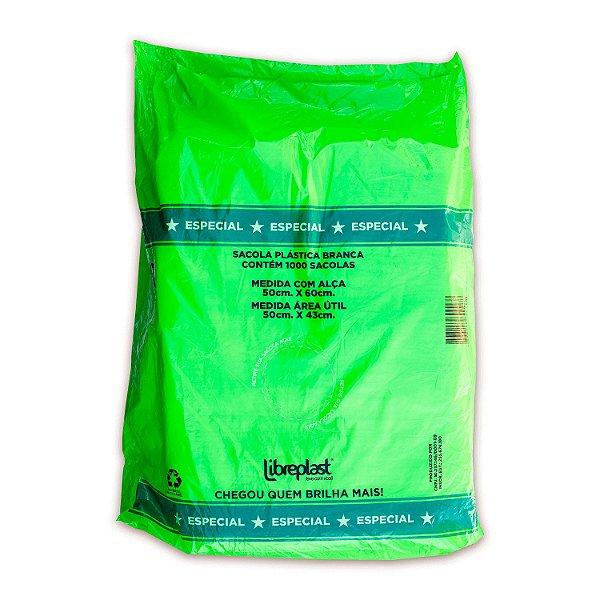 Sacola Plástica 50x60cm Branca Especial com 1000 Sacolas Libreplast
