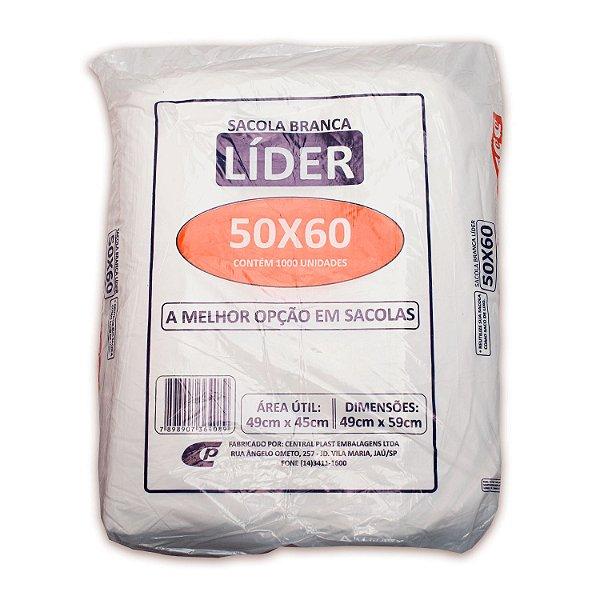 Sacola Plástica 50x60cm Branca com 1000 Sacolas Centralplast Líder