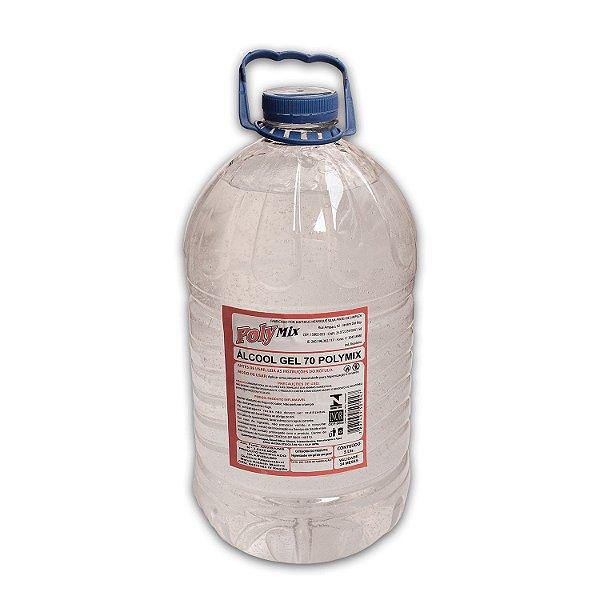 Álcool Gel 70º INPM Galão com 5L / 4,4Kg Polymix
