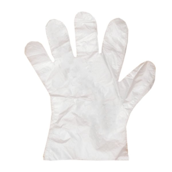 Luva Plástica Transparente Descartável
