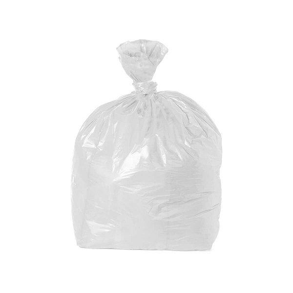 Saco para Lixo 60L 65x75cm 0,004mm Branco com 100 Sacos
