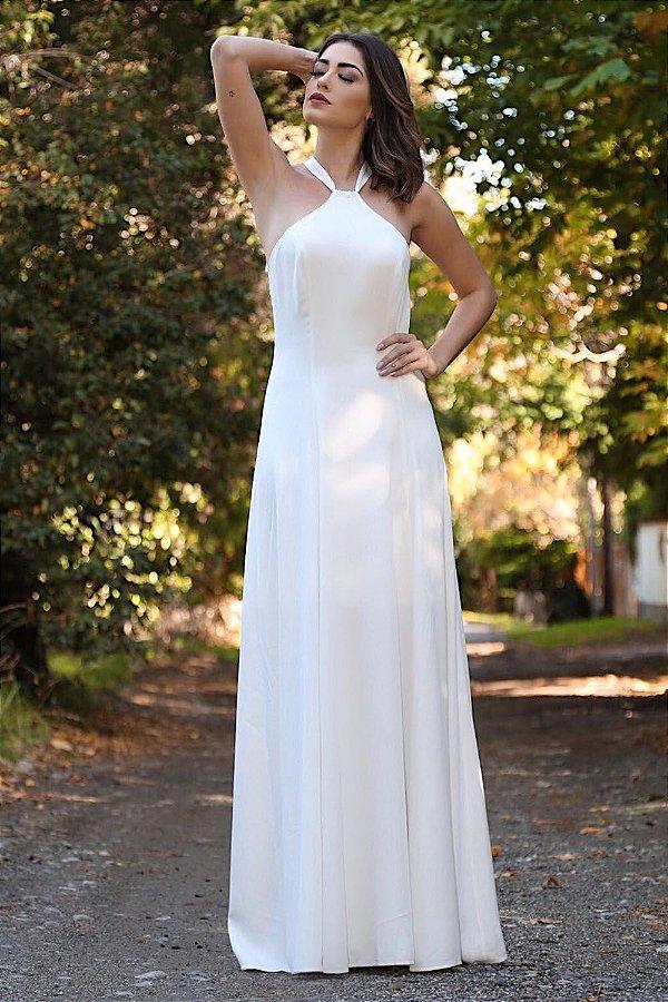 Vestido Longo Simone Branco