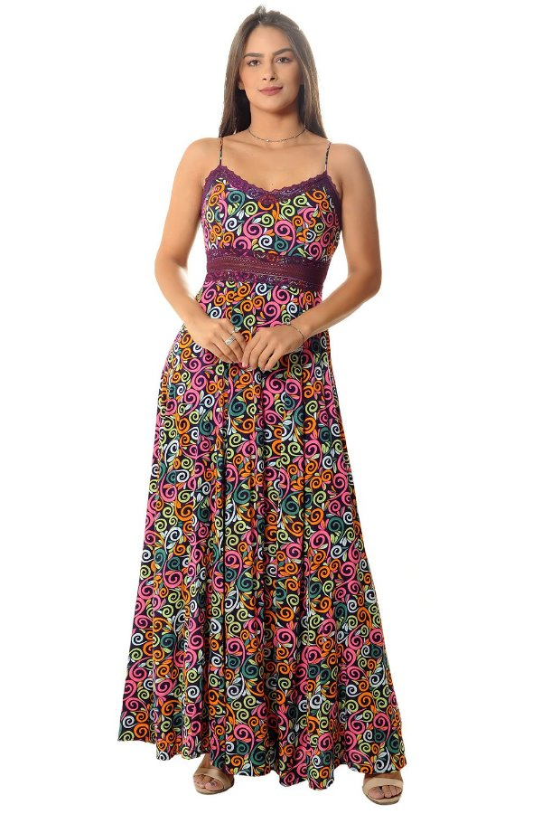 Vestido Longo Ana Roxo