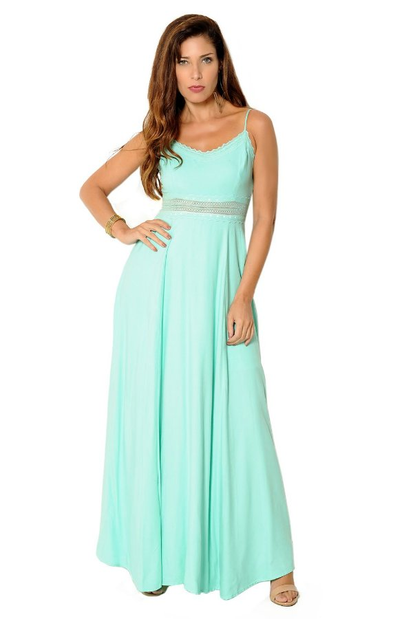 Vestido Longo Ana Verde Claro
