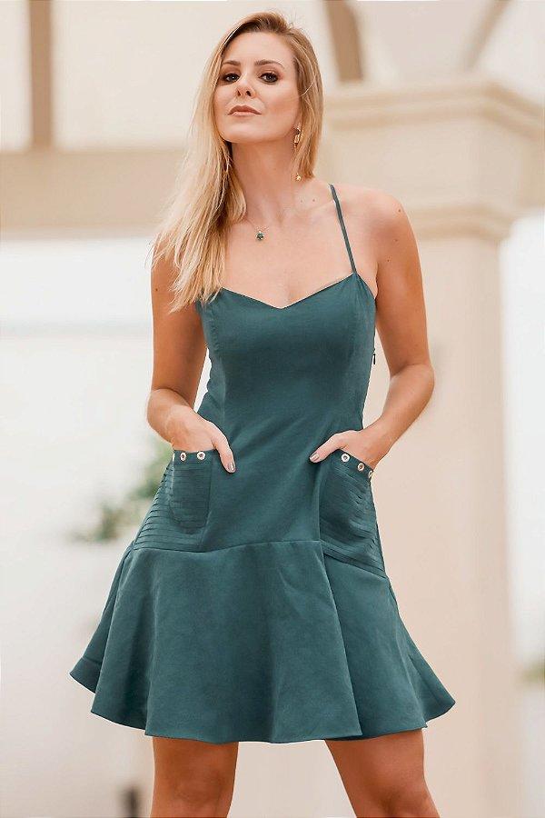 Vestido Antonela Verde