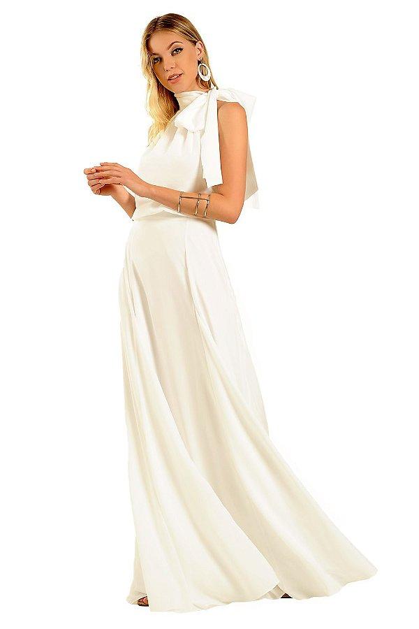 Vestido Longo Dandara Branco